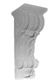 Large Corbel Bracket featuring an acanthus leaf and scrolling details