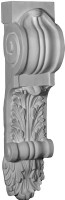 Tall Corbel Bracket featuring acanthus leaves and rolling, scrolling details