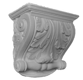 A classic acanthus leaf design, with beautiful, gentle scrolls and side details