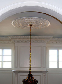 M10-60 Medallion with light fixture and detailed crown molding