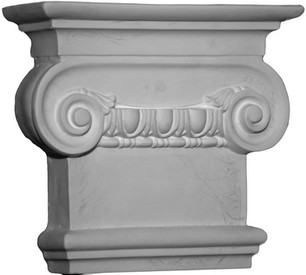 Corinthian Capital, with egg and dart molding design & large top volutes