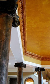 Custom capital C22 used in conjunction with DM712 Acanthus Crown Molding