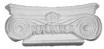 "Just 2 x 7 x 3"" High, this cast capital has egg and dart moldings and corner volutes. Scamozzi"
