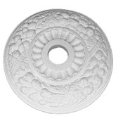 "22 1/2"" ceiling medallion features Fall Harvest Fruits"
