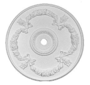 Floral swags and Bows adorn this elegant ceiling medallion