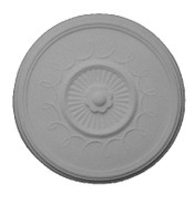 "14 1/2"" x 1 1/2"" Ceiling Centerpiece Medallion with grooves and ribbon design"