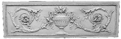 Cast Plaster Plaque Featuring an Urn and Acanthus Leaves - A30
