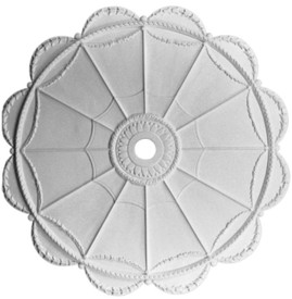 "M23-50 Acanthus Flower Swags and Scalloped Border Medallion - 50"" Diameter"
