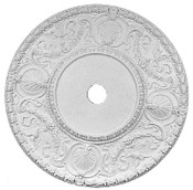 Ceiling Medallion with shells and ornate floral swags