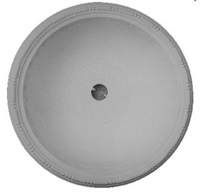 """Beaded Rail - Round D1 Ceiling 36 1/2"""" Dome - Cast Plaster"""