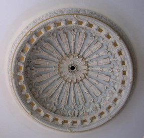 Hand-painted ornate ceiling dome