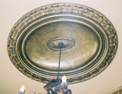Oval Ceiling Dome D12 - cast plaster (shown with R4 Ring and Oval Medallion M53-28 (extra cost)