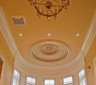 Elegant Bath Featuring Ceiling Dome D8 with D7 Insert