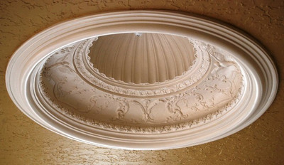 D9 Ceiling Dome with Greek Shell center