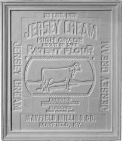 Vintage Jersey Cream / Dairy Theme Cast Plaster Panel