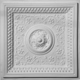 Acanthus Leaf, Dentil and Egg and Dart Molding.  Cast Plaster Ceiling Tiles. 24 x 24
