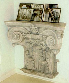 This Cast Plaster Accessory can be attached to the wall, and used as a shelf