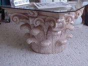Scrolling Pedestal and Table Base with Acanthus Leaf Detail