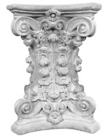 Decorative Plaster Tablebases T2 featuring scrolls and acanthus leaves