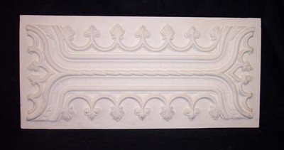 Decorative Panel. Wainscot, with fleur de lis pattern