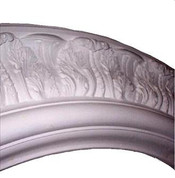 Ornamental cast plaster ceiling ring R2 featuring acanthus leaves