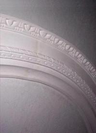 "Ornate decorative plaster ceiling ring R9 - Egg and Dart molding - 57"" inside x 77 1/2"" outside"