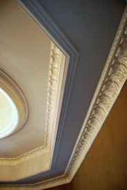 Crown Moldings DM701 and DM748 used together in this tray ceiling