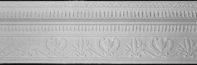 Lilly and Leaves Decorative Crown Molding