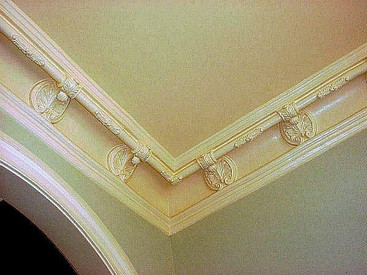 Decorative Crown Molding, installed