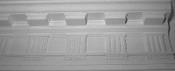 Decorative Plaster Molding with Modified Dentil Columns