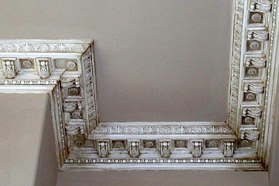 Decorative Crown Molding with glazed finish