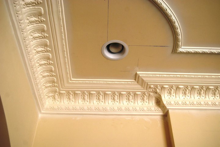 DM734 Egg and Dart Plaster Crown Molding
