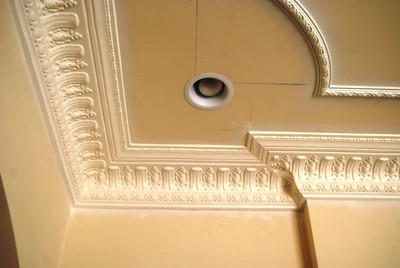Plaster decorative Crown Molding used at wall to ceiling junction