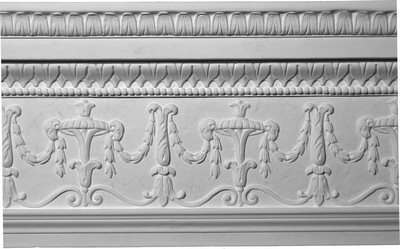Decorative Swags and Leaves Crown Molding