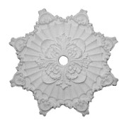 Elaborately detailed acanthus leaf and star blossom design