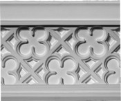 Crown Molding featuring a quatrefoil clover-like pattern