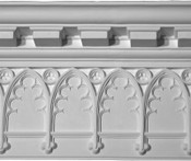 Trefoil Gothic Plaster Molding