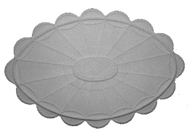 Classic Relief ceiling medallion featuring scallops and rounded outside decorative edge detailing
