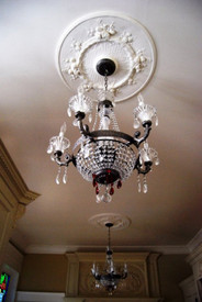 Rose and Flower Bouquets in this Ceiling Medallion