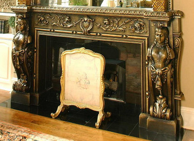 This mantel includes the B36 Lady Rebecca corbel pilasters