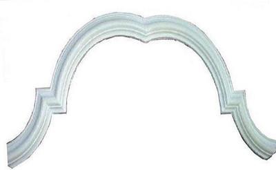 Overmantel OMT2 Bullnose molding - cast plaster