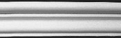 """Classic Chair Rail Molding - in cast plaster - DM272  (53"""" sections)"""