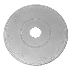 "Classic Ceiling Medallion featuring circular trim rings.  25"" x 1"""