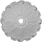 This Ceiling Medallion features long, lush and curling acanthus leaves