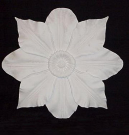 "A large Dogwood Flower is featured in this 24"" (point-to-point) Ceiling Medallion"
