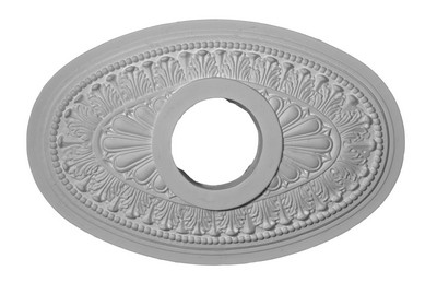 Classic Acanthus Leaf and Sunburst Oval Ceiling Medallion