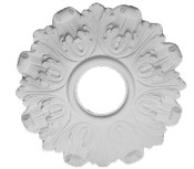 "This 16 1/4"" small ceiling medallion has multi-contour acanthus leaves"