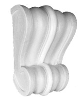 "Classic scrolls are featured on this decorative corbel.  13"" Tall x 9"" Wide x 4 1/2"" Deep"