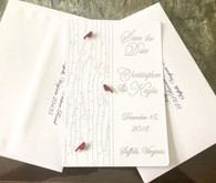 A beautiful set with laser envelope addressing included