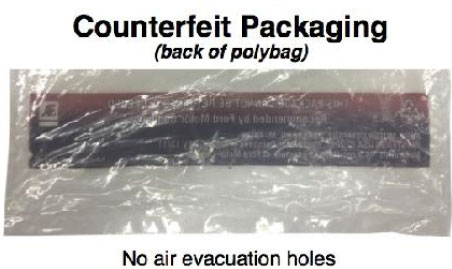 Counterfeit Ford Motorcraft Ignition Coils